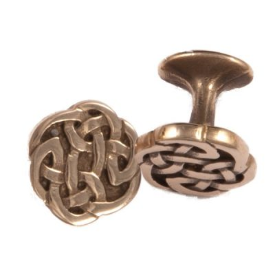 Bronze knot cufflinks
