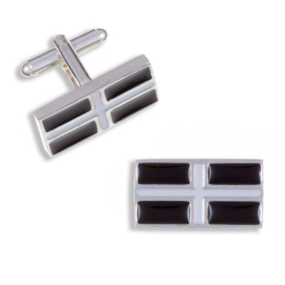 Cornish flag cufflinks