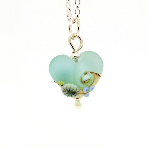 Beach Art glass pendant