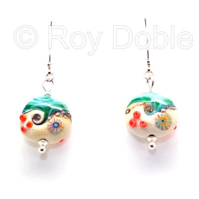 Beach Art pebble earrings