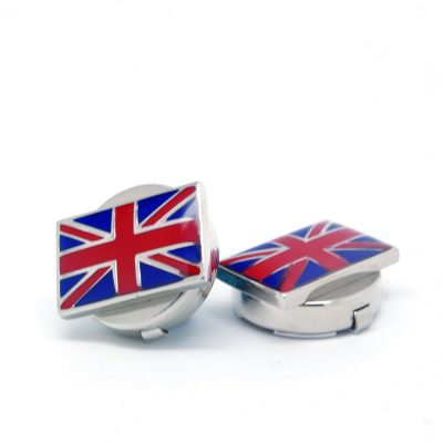 Union Jack button clips