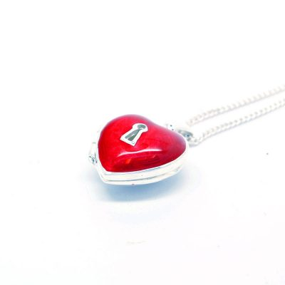 Red heart locket
