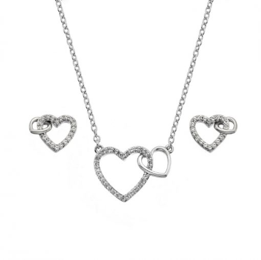 heart pendant & earring set